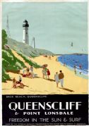 Queenscliff & Point Lonsdale, Australia. Vintage Travel Poster by Percy Trompf